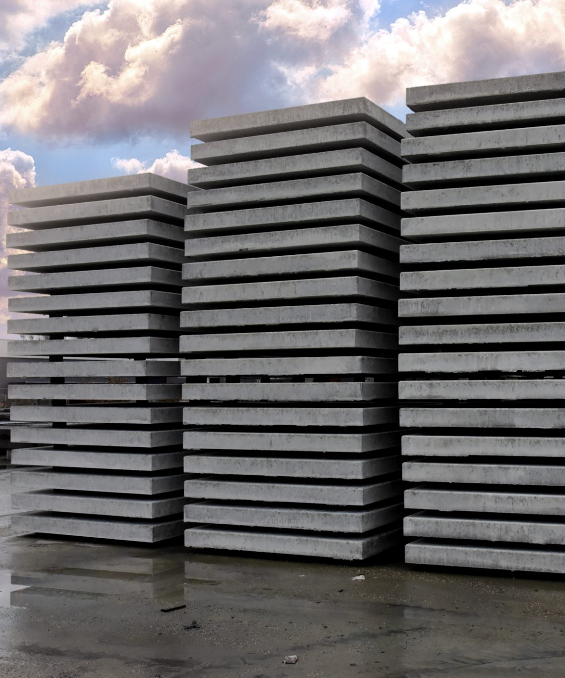 betonnen plaat